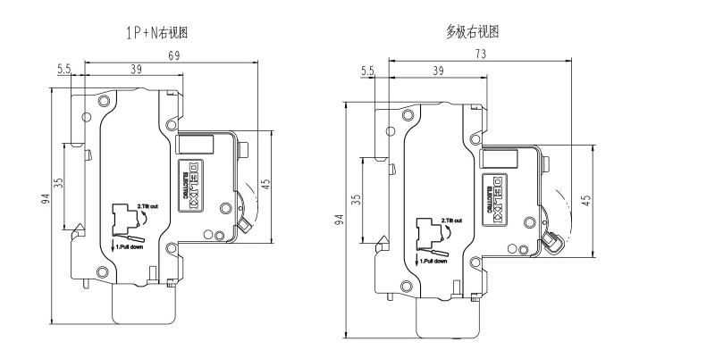 德力西 微型漏电保护断路器,dz47sle 4p c6a,dz47slen