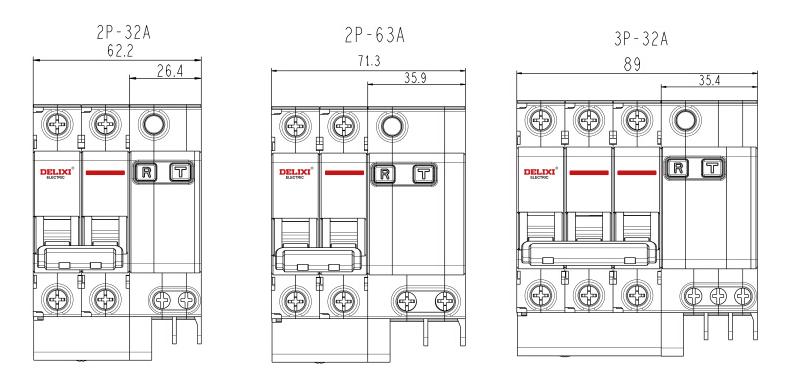 德力西 微型漏电保护断路器,dz47sle 2p c40a,dz47slen2c40