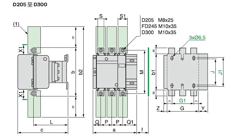 施耐德 直流线圈接触器,lc1d32cdc,32a,36v,三极
