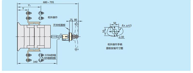 正泰nh40隔离开关,nh40-32a/3 柜内操作
