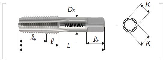 yamawa 圆锥管螺纹丝锥,pt 1/2-14 Ⅱ 适用加工碳钢,合金钢,铜,铝等轻