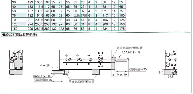 亚德客hlq精密滑台气缸,双轴循环滚珠型,hlq25x30-s-a